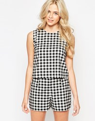 Oasis Gingham Shell Top Blackivory
