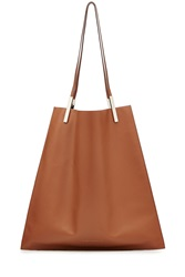 Victoria Beckham Leather Tote Brown