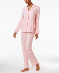 Charter Club Lace Trimmed Printed Pajama Set Only At Macy's Coral Mosaic