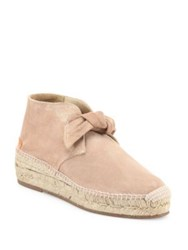 Rag And Bone Gena Suede Espadrille Booties Warm Grey Macaroon