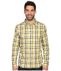 The North Face Long Sleeve Hayden Pass Shirt Antique Moss Green Plaid Men's Clothing Yellow