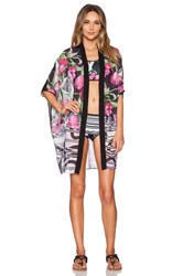 Clover Canyon Dancing Tulips Cover Up Black