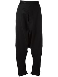 Pal Offner Drop Crotch Trousers Black