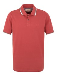 Racing Green Clement Tipped Pique Polo Red