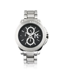 Karl Lagerfeld Karl Energy Silver Tone Stainless Steel Men's Watch