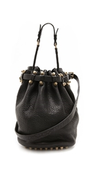 Alexander Wang Diego Bucket Bag With Antiqued Gold Hardware Black