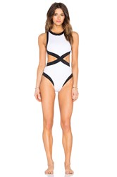Oye Swimwear Kerry One Piece Black And White