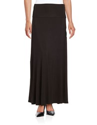 Lord And Taylor Petite Knit Maxi Skirt Black