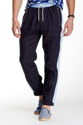 Parke And Ronen Ravello Linen Track Pant Blue