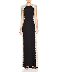 Aqua Lace Side Detail Gown Black Gold