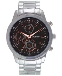 Unlisted Men's Chronograph Silver Tone Bracelet Watch 46Mm 10027762 Only At Macy's