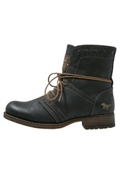 Mustang Laceup Boots Graphit Dark Gray