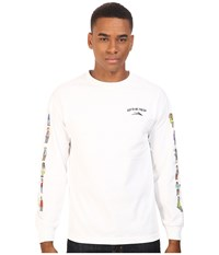 Lakai Workaholics Army Long Sleeve Tee White Men's T Shirt