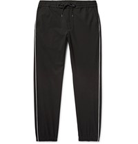 Marvy Jamoke Tapered Piped Twill Trousers Black