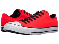 Converse Chuck Taylor All Star Variable Box Woven Ox Bright Crimson White Black Lace Up Casual Shoes Orange