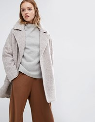 Native Youth Smart Overcoat Light Camel Beige