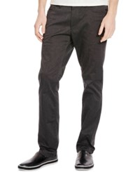 Kenneth Cole New York Men's Lyle Slim Fit Pants Charcoal Combo