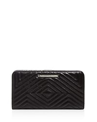 Rebecca Minkoff Quilted Sophie Snap Continental Wallet Black