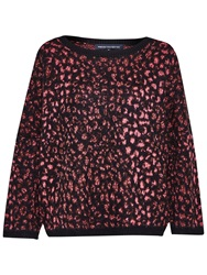 French Connection Electric Leopard Jumper Ziggy Pink Multi