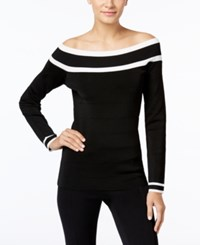 Inc International Concepts Off The Shoulder Sweater Only At Macy's Deep Black