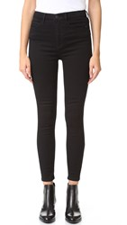 Free People Cyndi High Rise Skinny Jeans Black