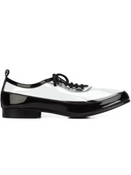Comme Des Garcons 'Clear' Oxford Shoes Black