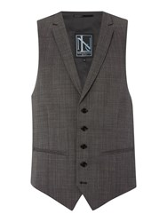 New And Lingwood Chiswick Oxford Suit Waistcoat Grey
