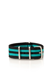 Forever 21 Double Striped Watch Strap Black Green