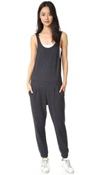 Sol Angeles Birdseye Jumpsuit Charcoal