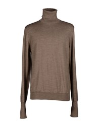 Alpha Massimo Rebecchi Knitwear Turtlenecks Men Khaki