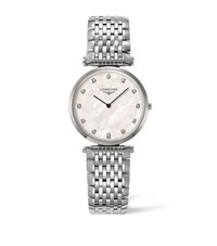 Longines La Grande Classique Mother Of Pearl Watch Unisex White