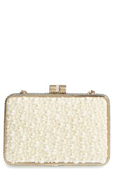 Sondra Roberts Pearly Bead And Crystal Box Clutch