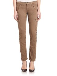 Rag And Bone Mid Rise Skinny Cargo Jeans Military