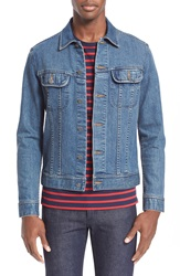 A.P.C. Washed Stretch Denim Jacket Indigo