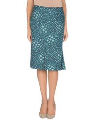 Xandres Skirts 3 4 Length Skirts Women Deep Jade
