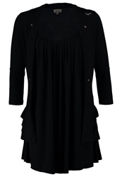Khujo Long Sleeved Top Black Unwashed
