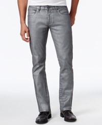 Inc International Concepts Men's Jack Slim Straight Fit Jeans Only At Macy's Gunmetal