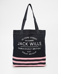 Jack Wills Tote In Canvas Navyditsy