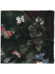 Valentino 'Tie And Dye' Butterfly Print Scarf Multicolour