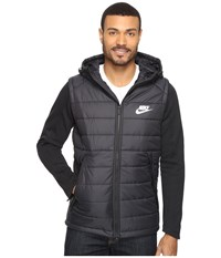 Nike Nsw Av15 Syn Hooded Jacket Black Black White Men's Coat
