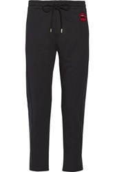 Markus Lupfer Lara Lip Daria Cotton Jersey Track Pants Black