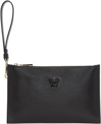 Versace Black Leather Small Medusa Pouch