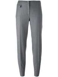 Fay Tapered Tailored Trousers Grey