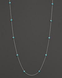 Ippolita Sterling Silver Rock Candy Long Stone Station Necklace In Turquoise 48