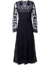 Red Valentino Lace Overlay Dress Blue