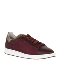 Brunello Cucinelli Corduroy Trim Sneakers Male Burgundy
