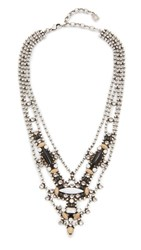 Dannijo Basel Necklace Ox Silver Clear Matte Black Nu