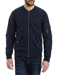 Bench Slim Fit Trail Bomber Jacket Bright Blue