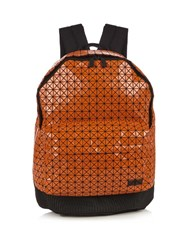Issey Miyake Triangular Panels Backpack Orange