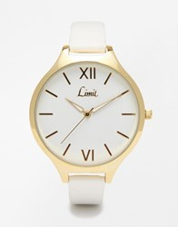 Limit White Strap Watch